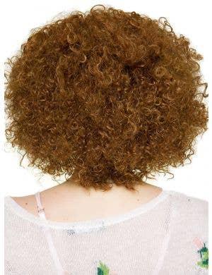 Disco Diva Medium Brown Lace Front Women's Costume Wig