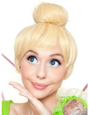 Deluxe Short Blonde Women's Tinkerbell Costume Wig