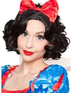 Deluxe Women's Short Black Snow White Costume Wig
