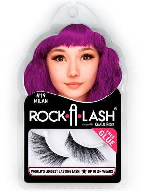 Rock-A-Lash Milan Fluffy Black Winged Fake Eyelashes