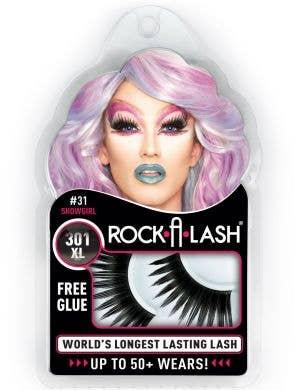 Rock-A-Lash 301XL Extra Long Thick Black Fake Eyelashes