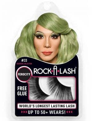 Rock-A-Lash Ferocity Extra Long Black Cat Eye Fake Eyelashes