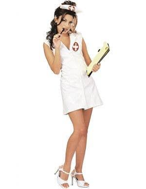 Women's Sexy White Nurse Fancy Dress Costume