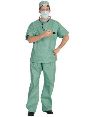 Men's Green ER Doctor Costume Scrubs