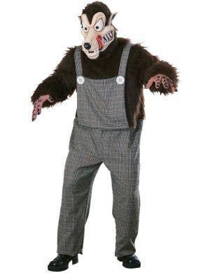 Men's Big Bad Wolf Halloween Costume Front