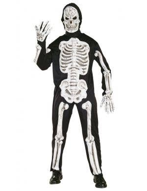 Skeleton Suit Halloween Fancy Dress Costume