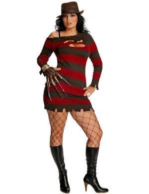 Freddy Krueger Women's Plus Size Halloween Costume