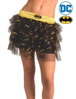 DC Batman Women's Yellow and Black Tutu Costume Skirt Main Image