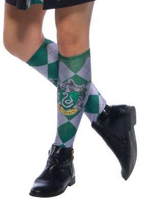 Green Slytherin Hogwarts House Licensed Harry Potter Costume Socks