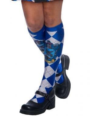 Blue Ravenclaw Hogwarts House Licensed Harry Potter Costume Socks