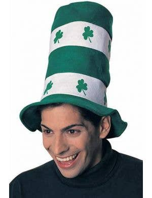 Green and White St Patrick's Day Novelty Top Hat