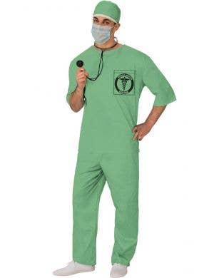 Green Medical Doctor Costume Scrubs for Men