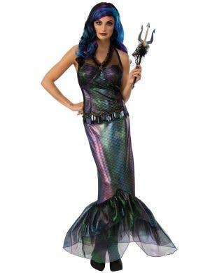 Iridescent Rainbow Shimmer Queen Neptune Mermaid Costume for Women
