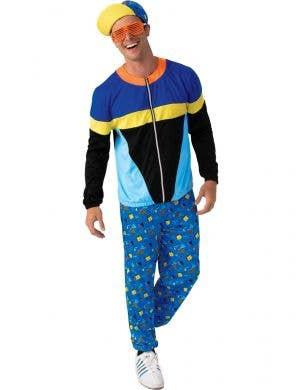 Men's Blue 90s Rapper Costume - Main Image