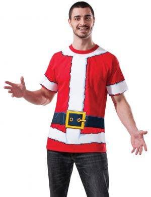 Santa Suit Printed Men's Christmas Costume Shirt