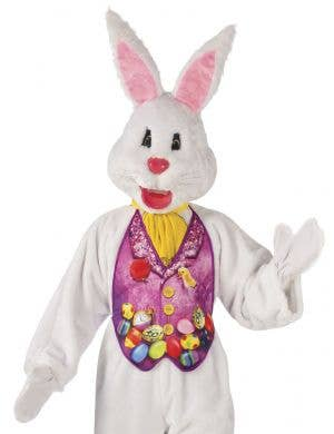 Super Deluxe Easter Bunny Plus Size Adult's Mascot Costume