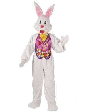 Adults Deluxe Plus Size Easter Bunny Mascot Costume - Close Image
