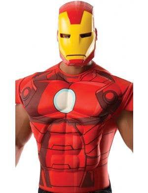 Avengers Iron Man Muscle Chest Costume Shirt and Mask