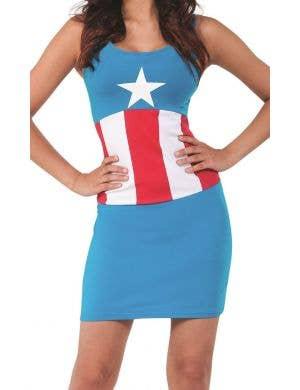 American Dream Women's Blue Avengers Dress Costume