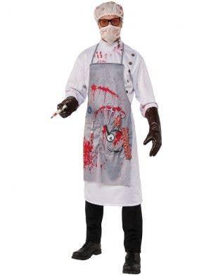 Men's Creepy Zombie Doctor Halloween Fancy Dress Costume Main Image