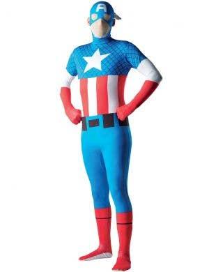 Captain America Second Skin Men's Superhero Morphsuit Costume Main Image