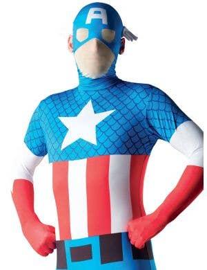 Captain America Adult Second Skin Costume