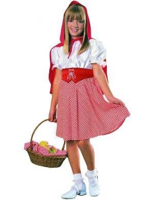 Girls Little Red Riding Hood Fancy Dress Book Week Costume