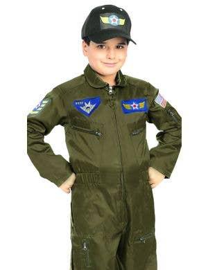 Air Force Fighter Pilot Boys Fancy Dress Costume
