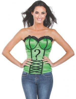 The Riddler Women's Sexy Green Costume Corset