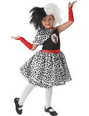 Girl's Cruella De Vil Costume Front View