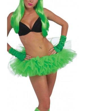 Neon Green Women's 1980's Costume Tutu