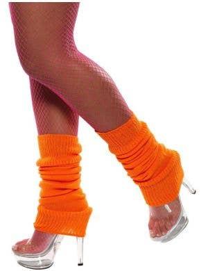 Back to the 80's Neon Orange Leg Warmers