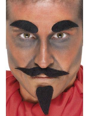 Devil Goatee and Eyebrows Accessory Set