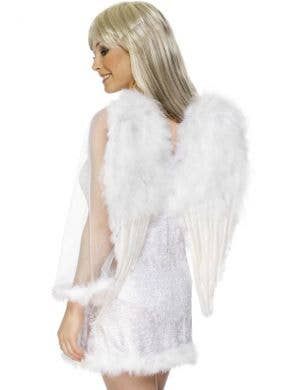 Heavenly White Feather Angel Costume Wings