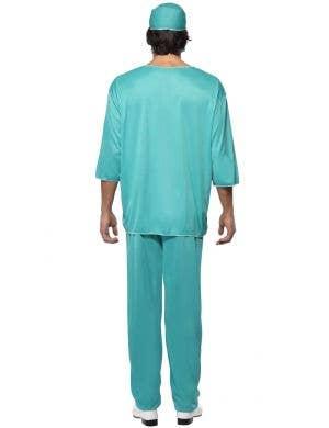 A&E Doctor Men's Blue Surgeon Scrubs Costume