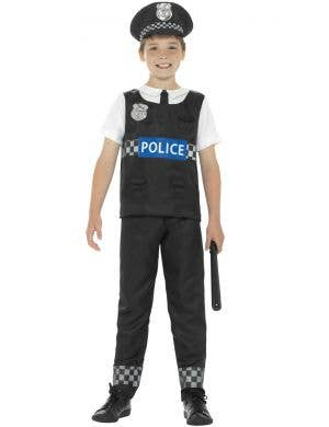 Cop Officer Tween Boys Fancy Dress Police Costume