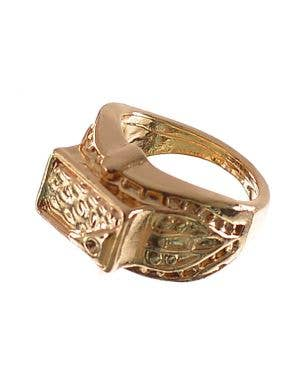 Simple Gold Women's Costume Accessory Ring
