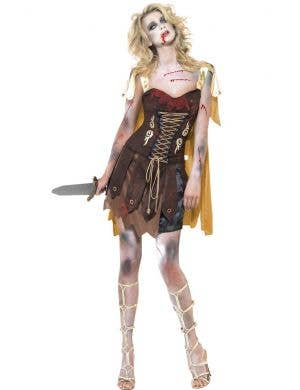 Roman Undead Gladiator Women's Zombie Costume