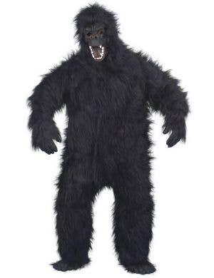 Scary Hairy Black Gorilla Men's Halloween Costume