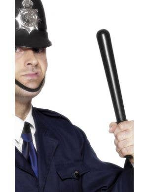 Black Squeaking Novelty Plastic Police Office Baton Truncheon Costume Accessory View 1