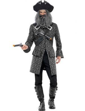 Men's Terror Of The Seas Grey Pirate Costume Front