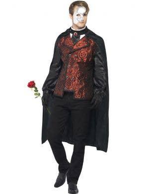 Dark Phantom Of The Opera Men's Halloween Costume Front