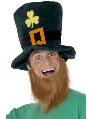 Leprechaun Green Costume Hat and Beard Costume Accessory