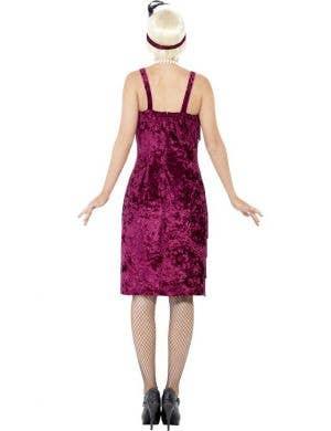 Jazz Flapper Plus Size Burgundy Women's 1920's Costume