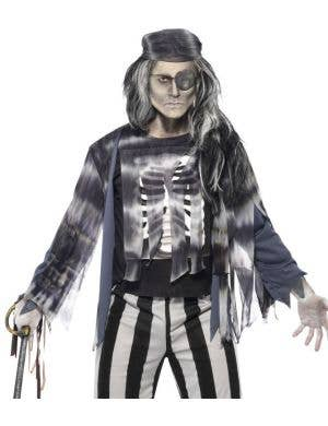 Ghostly Pirate Ship Mate Men's Halloween Costume
