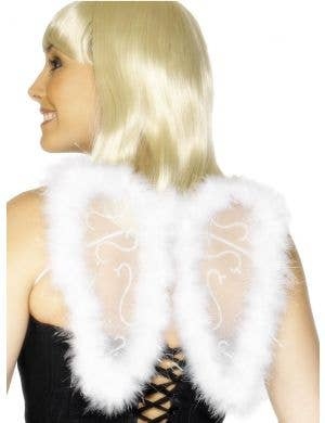 Angel White Feather Wings Costume Accessory
