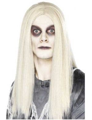 Men's Long White Ghost Town Costume Wig