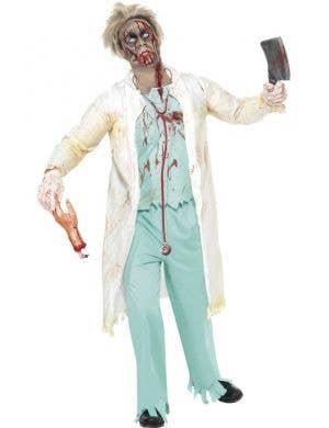 Zombie Doctor Surgeon Men's Halloween Costume