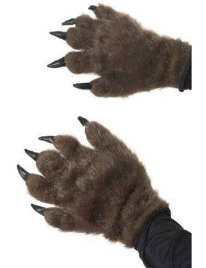Hairy Brown Werewolf Hands with Nails