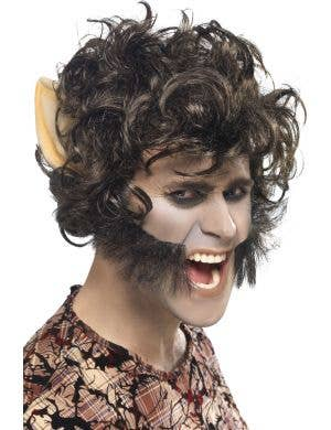 Werewolf Adult's Halloween Costume Wig with Ears